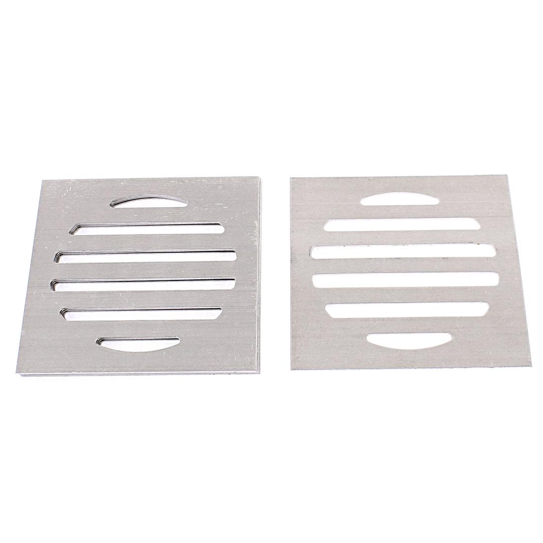 Kitchen Bathroom Square Floor Drain Drainer Cover 7.5cm x 7.5cm 6Pcs