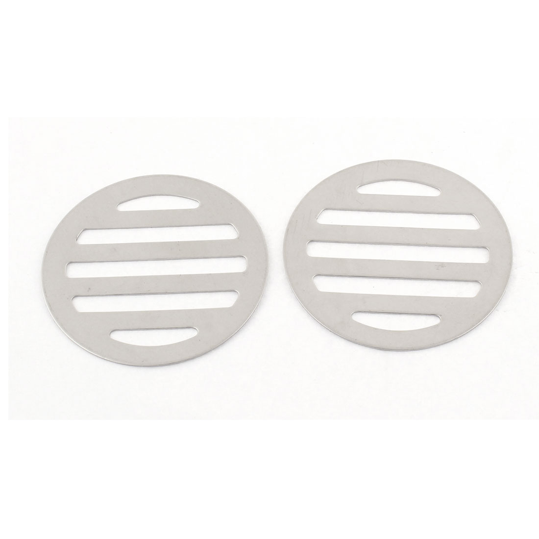 "Kitchen Bathroom Round Floor Drain Drainer Cover 2.5"" 6.3cm Dia 2Pcs"