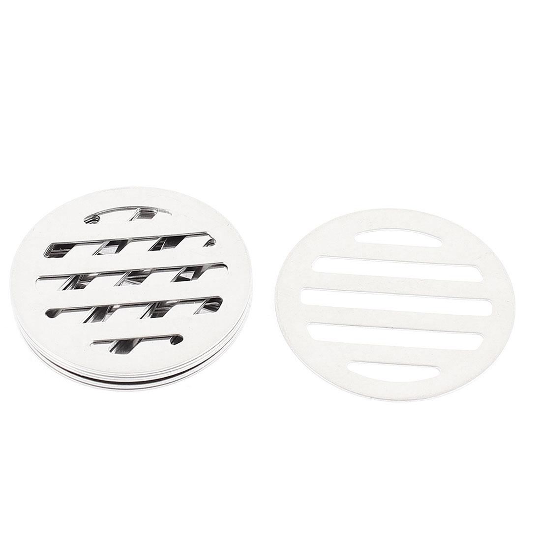 """Kitchen Bathroom Round Floor Drain Drainer Cover 2.5"""" 6.2cm Dia 8Pcs"""