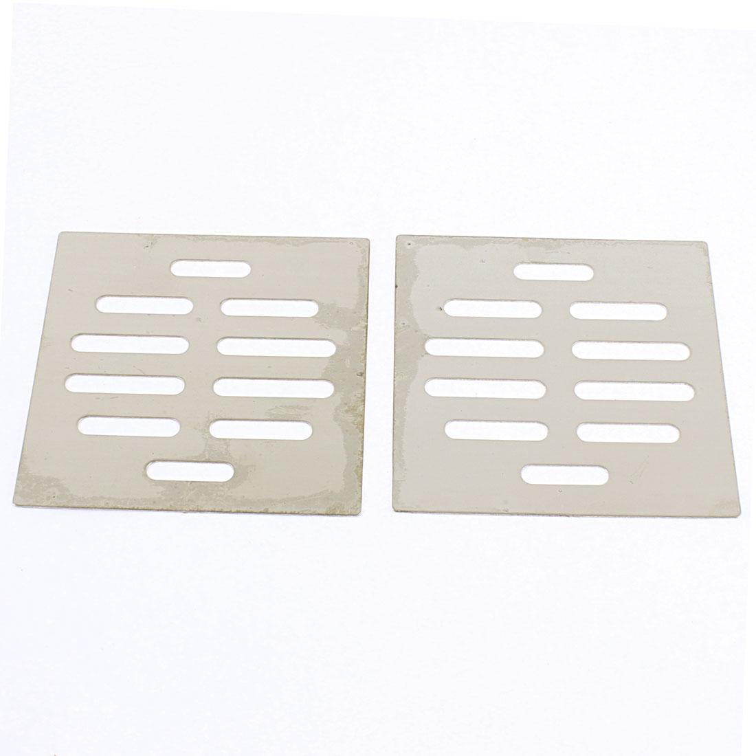 Kitchen Bathroom Square Floor Drain Drainer Cover 8.7cm x 8.7cm 2Pcs