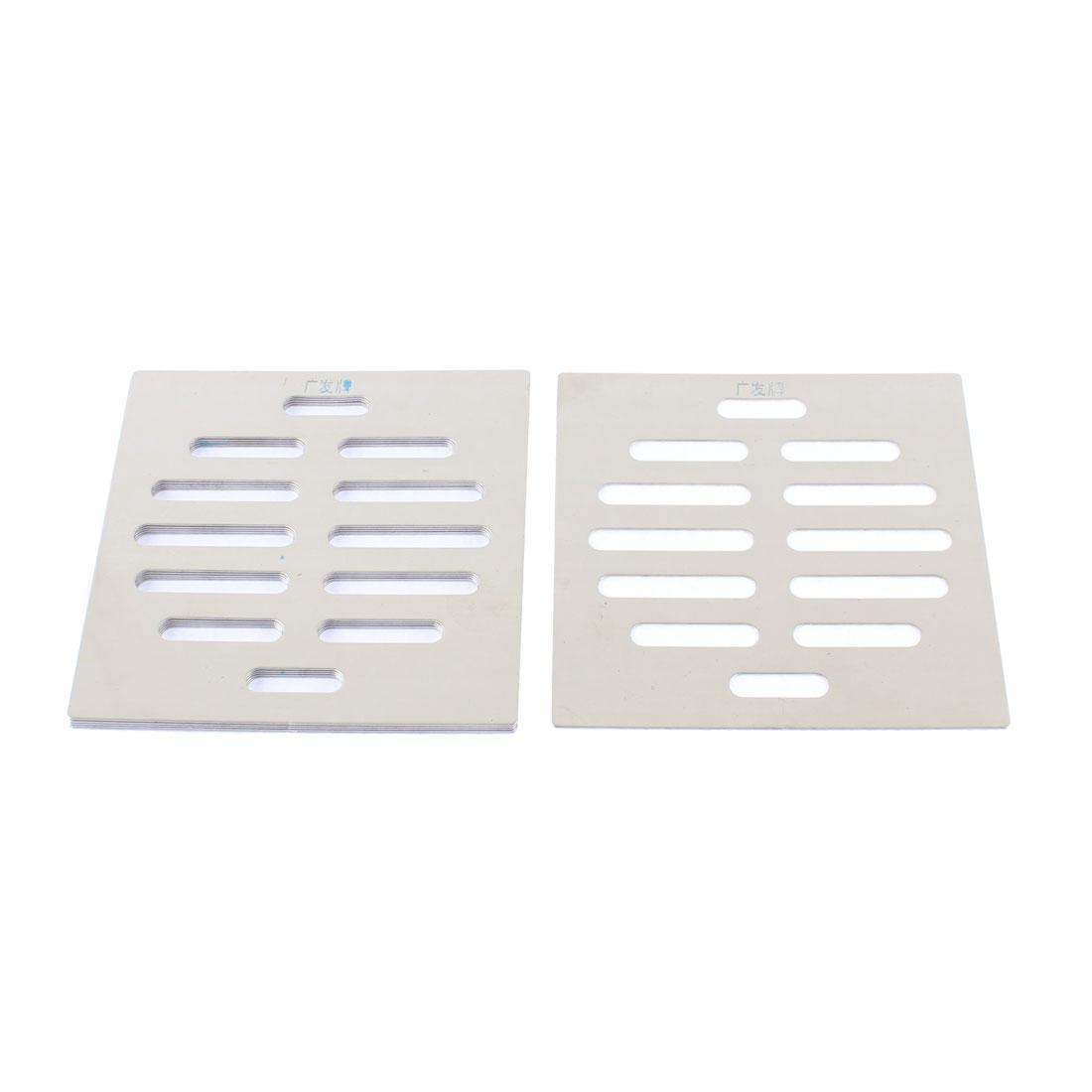 Kitchen Bathroom Square Floor Drain Drainer Cover 10cm x 10cm 6Pcs