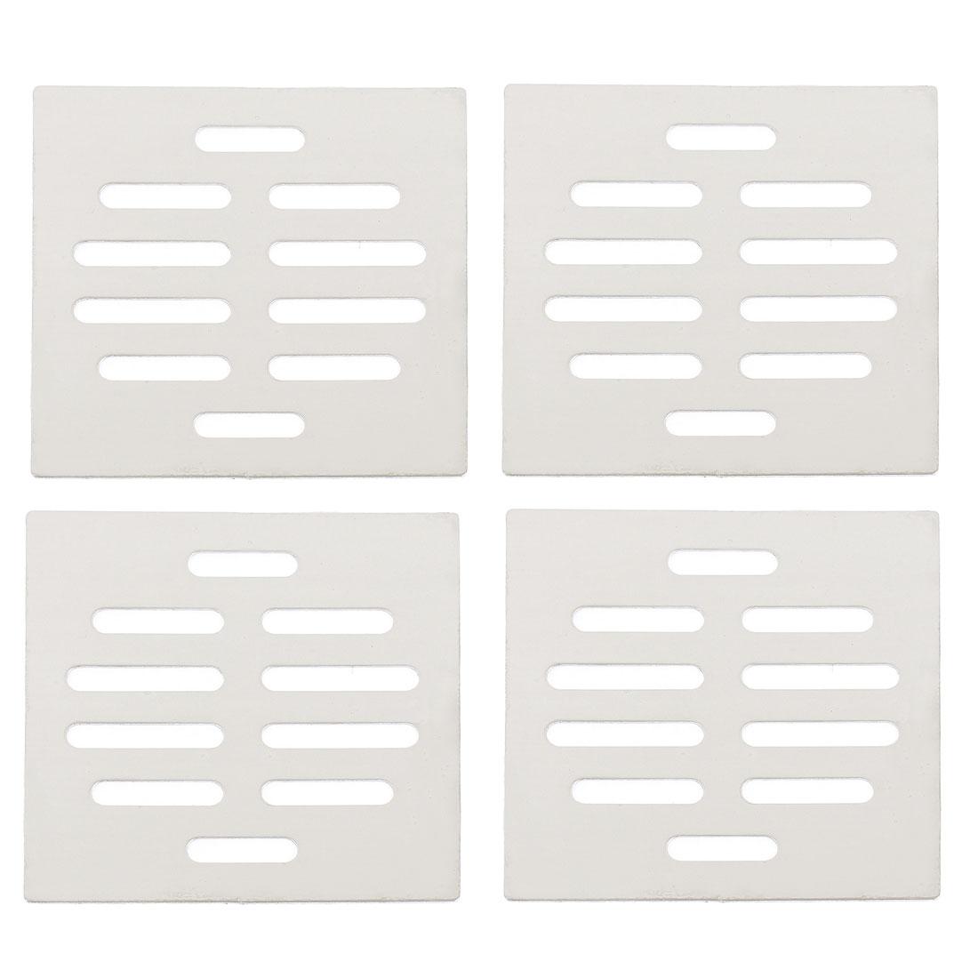 Kitchen Bathroom Square Floor Drain Drainer Cover 8.7cm x 8.7cm 4Pcs