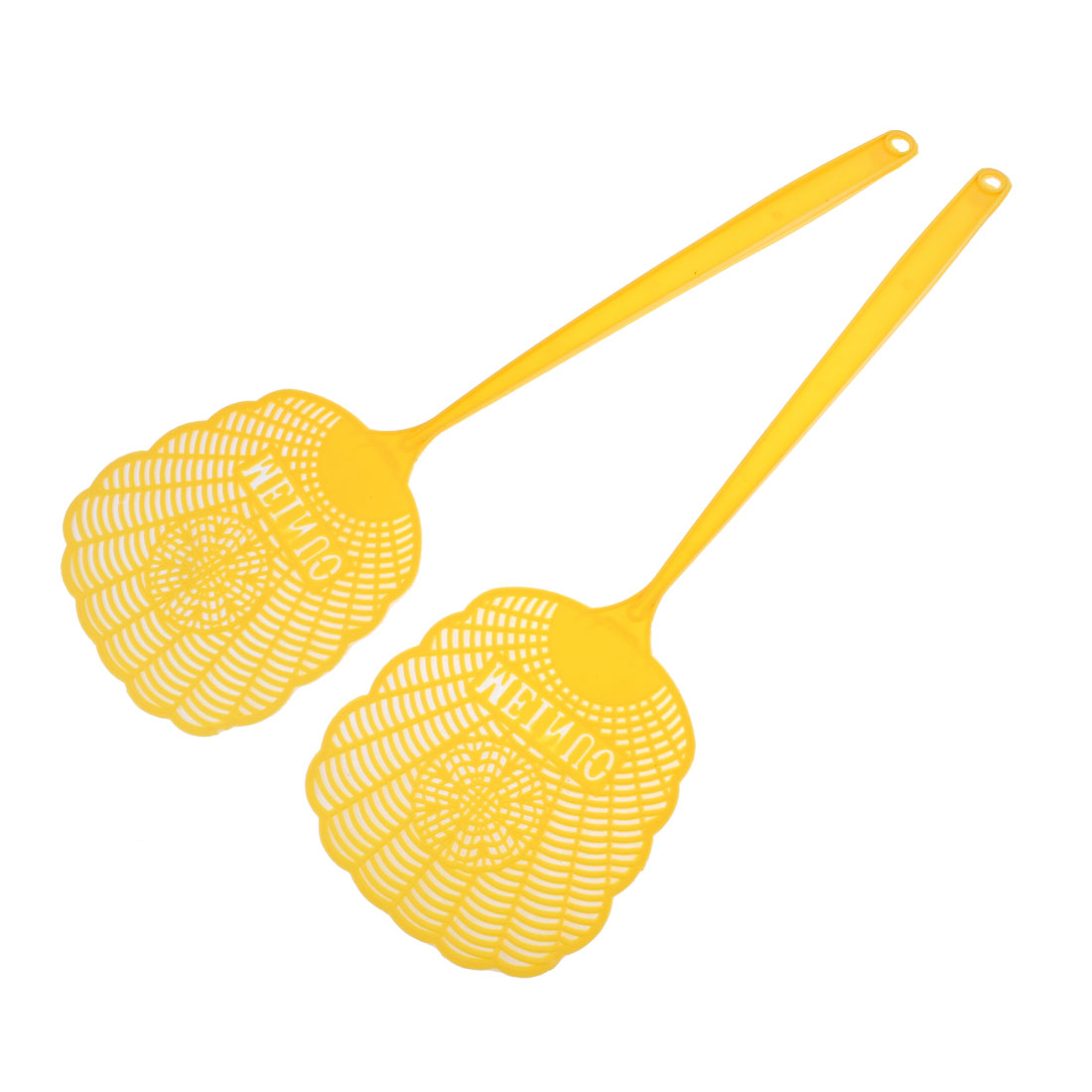 2Pcs Household Plastic Mosquito Cockroach Insects Fly Swatter 47cm Orange