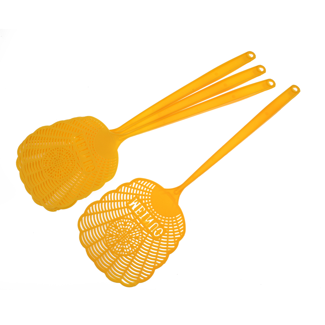 4Pcs Household Plastic Mosquito Cockroach Insects Fly Swatter 47cm Orange
