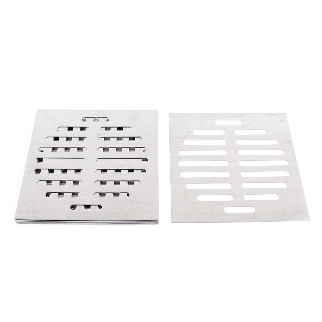 Kitchen Bathroom Square Floor Drain Drainer Cover 15cm x 15cm 8Pcs