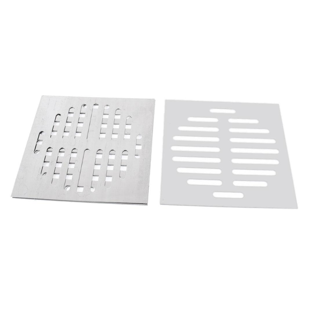 Kitchen Bathroom Square Floor Drain Drainer Cover 15cm x 15cm 4Pcs