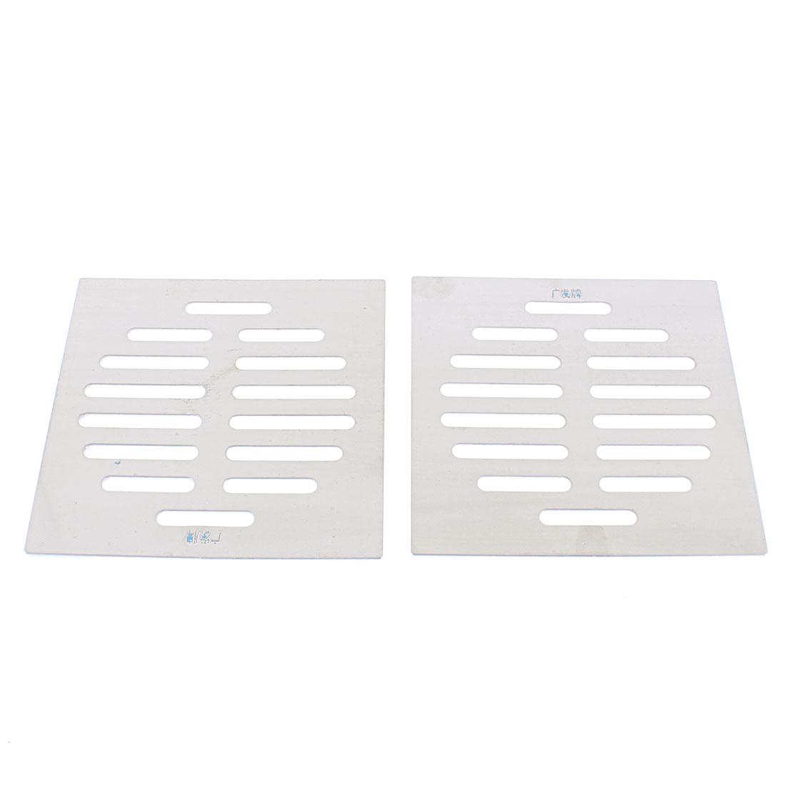 Kitchen Bathroom Square Floor Drain Drainer Cover 12.5cm x 12.5cm 2Pcs