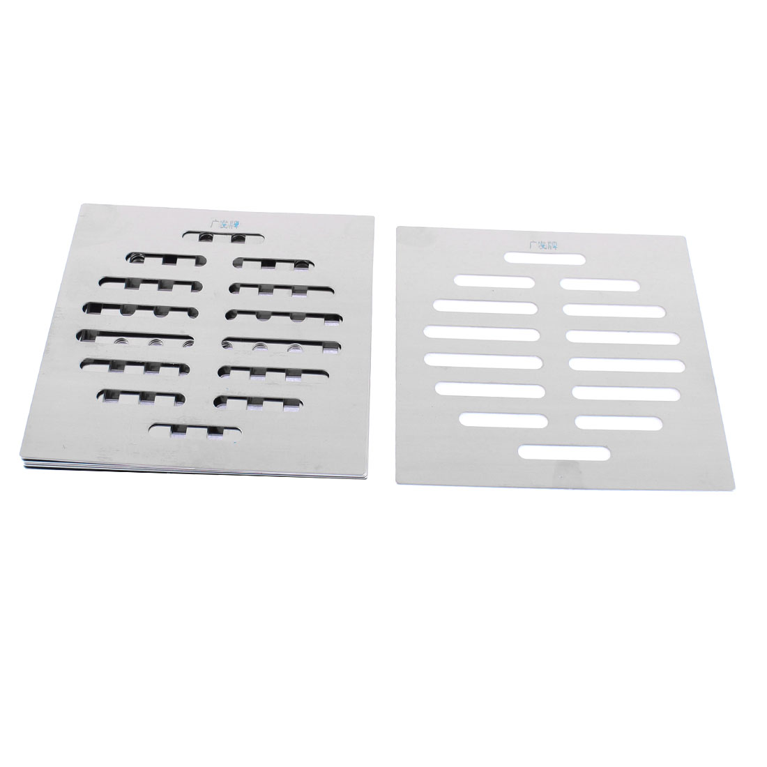 Kitchen Bathroom Square Floor Drain Drainer Cover 12.5cm x 12.5cm 8Pcs