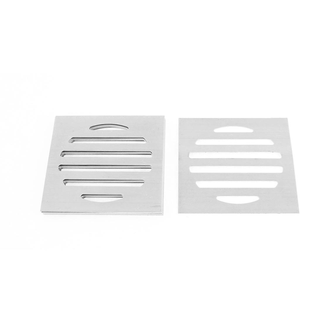 Kitchen Bathroom Square Floor Drain Drainer Cover 7.5cm x 7.5cm 8Pcs