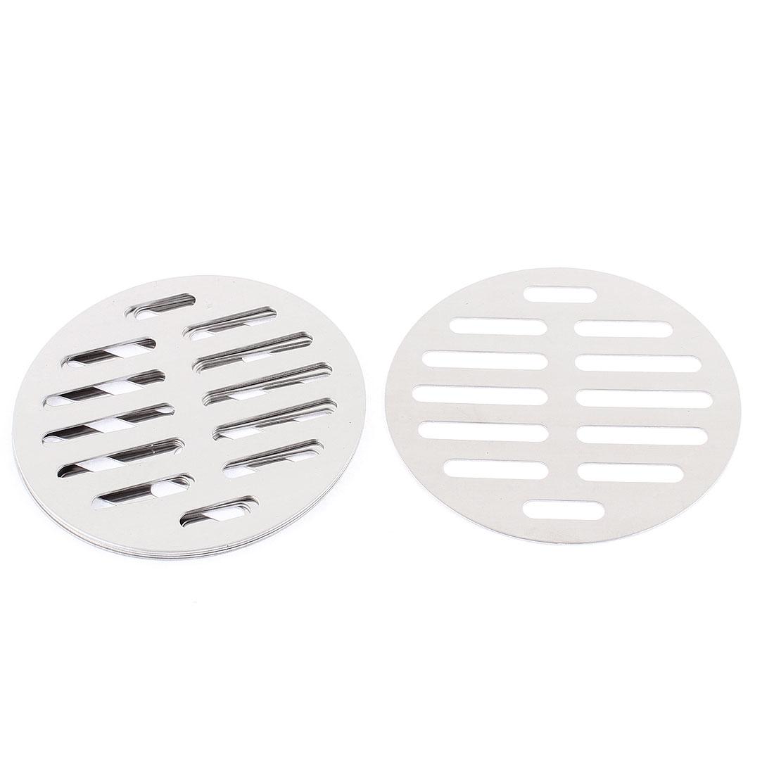 """Kitchen Bathroom Round Floor Drain Drainer Cover 4"""" 10cm Dia 6Pcs"""