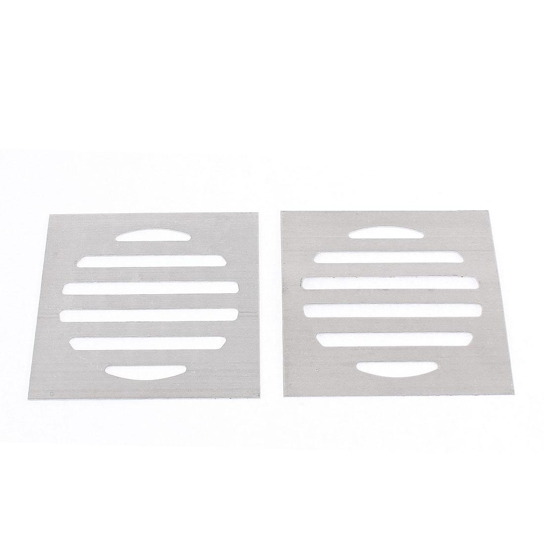Kitchen Bathroom Square Floor Drain Drainer Cover 7.5cm x 7.5cm 2Pcs