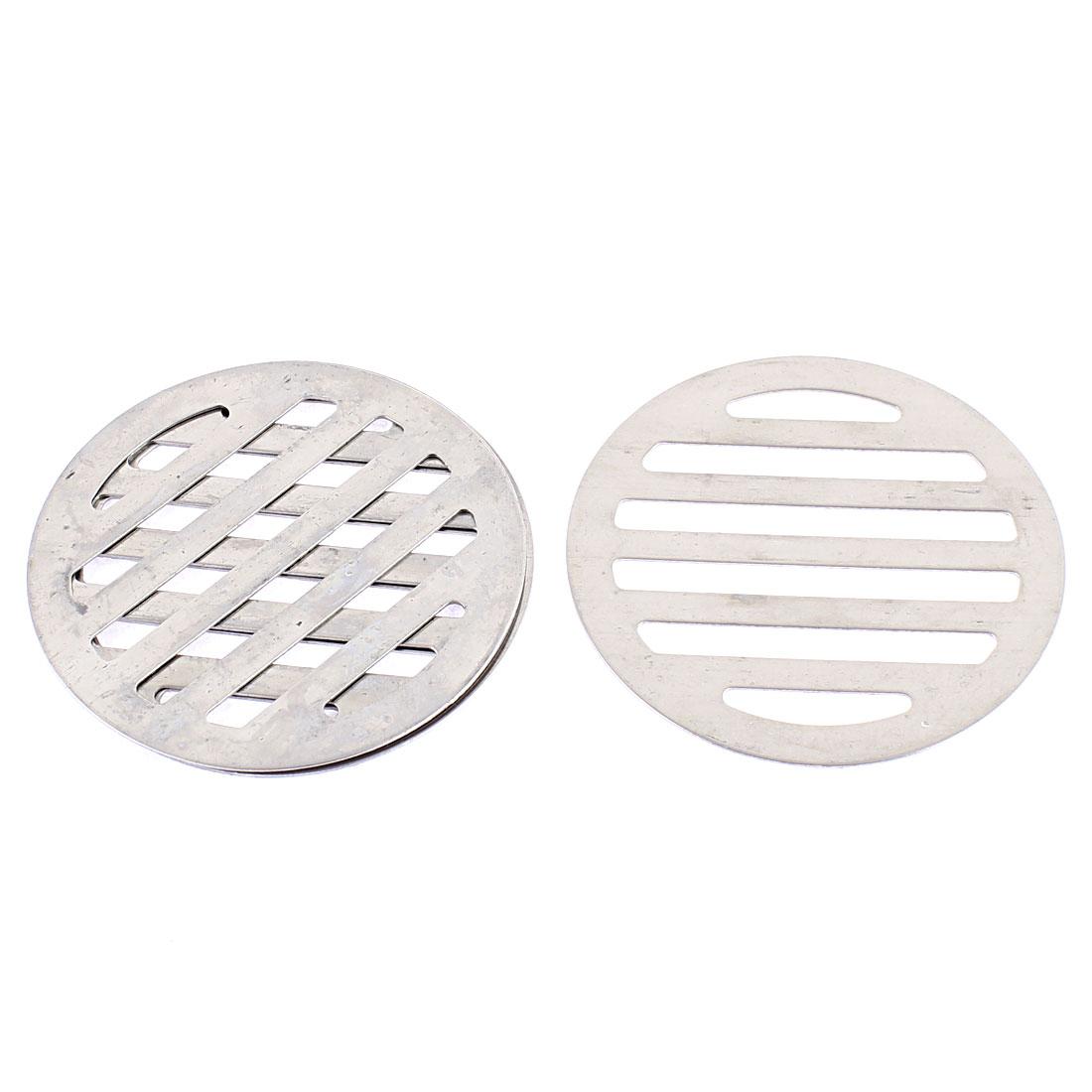 """Kitchen Bathroom Round Floor Drain Drainer Cover 3"""" 7.5cm Dia 4Pcs"""