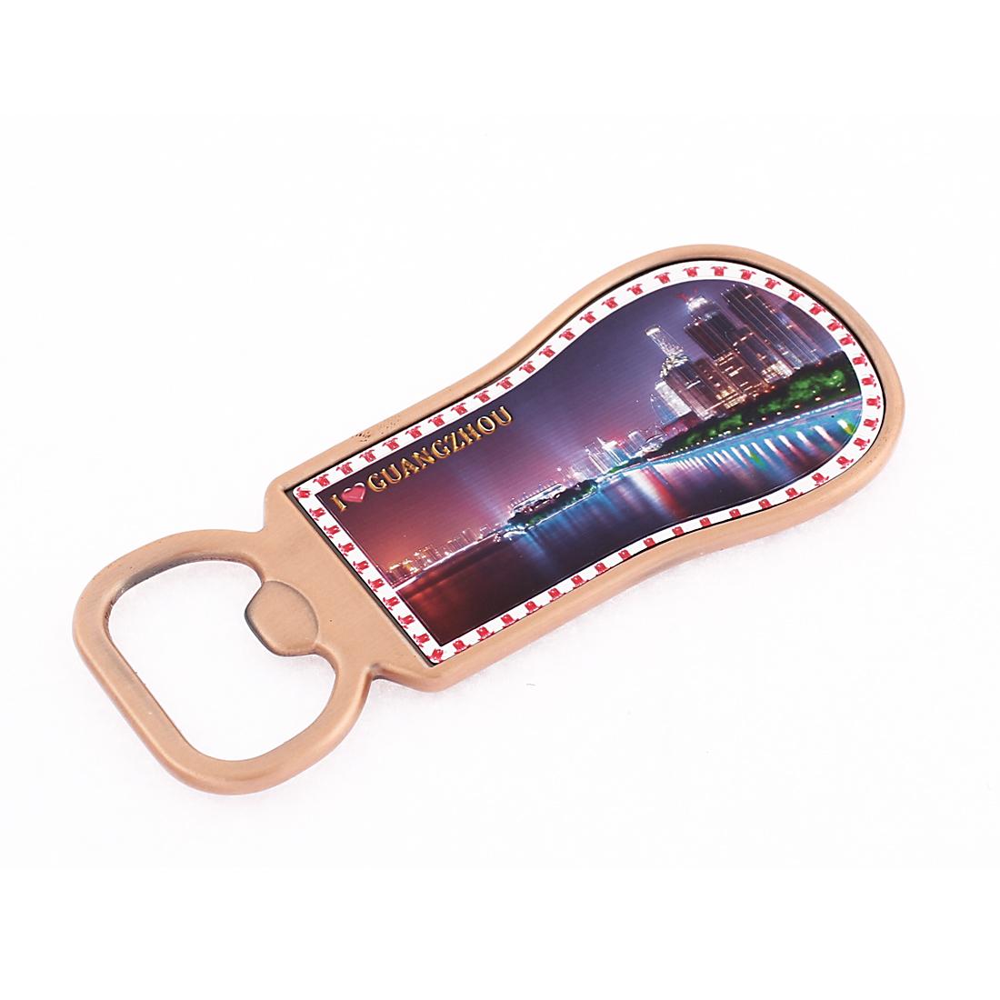 Copper Tone Wine Bottle Opener Magnetic Fridge Sticker Ornaments
