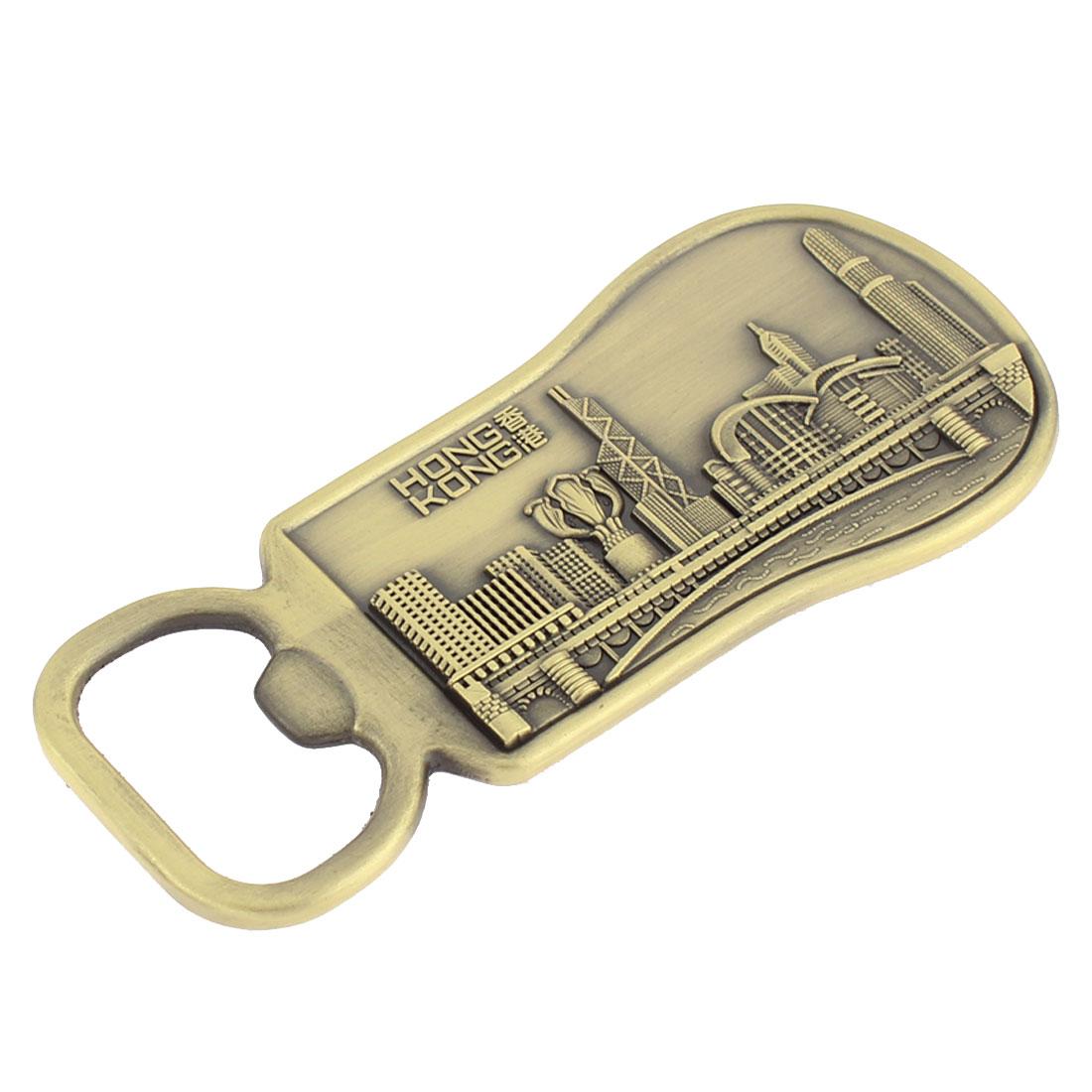 Bronze Tone Metal Bottle Opener Pendant Magnetic Fridge Sticker Decor