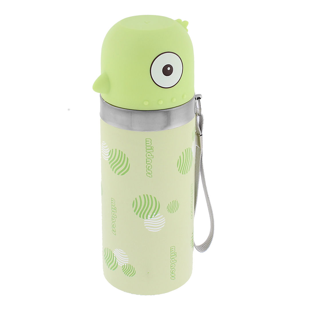 Student Stainless Steel Vacuum Insulated Warm Water Bottle Mug Green 350ml