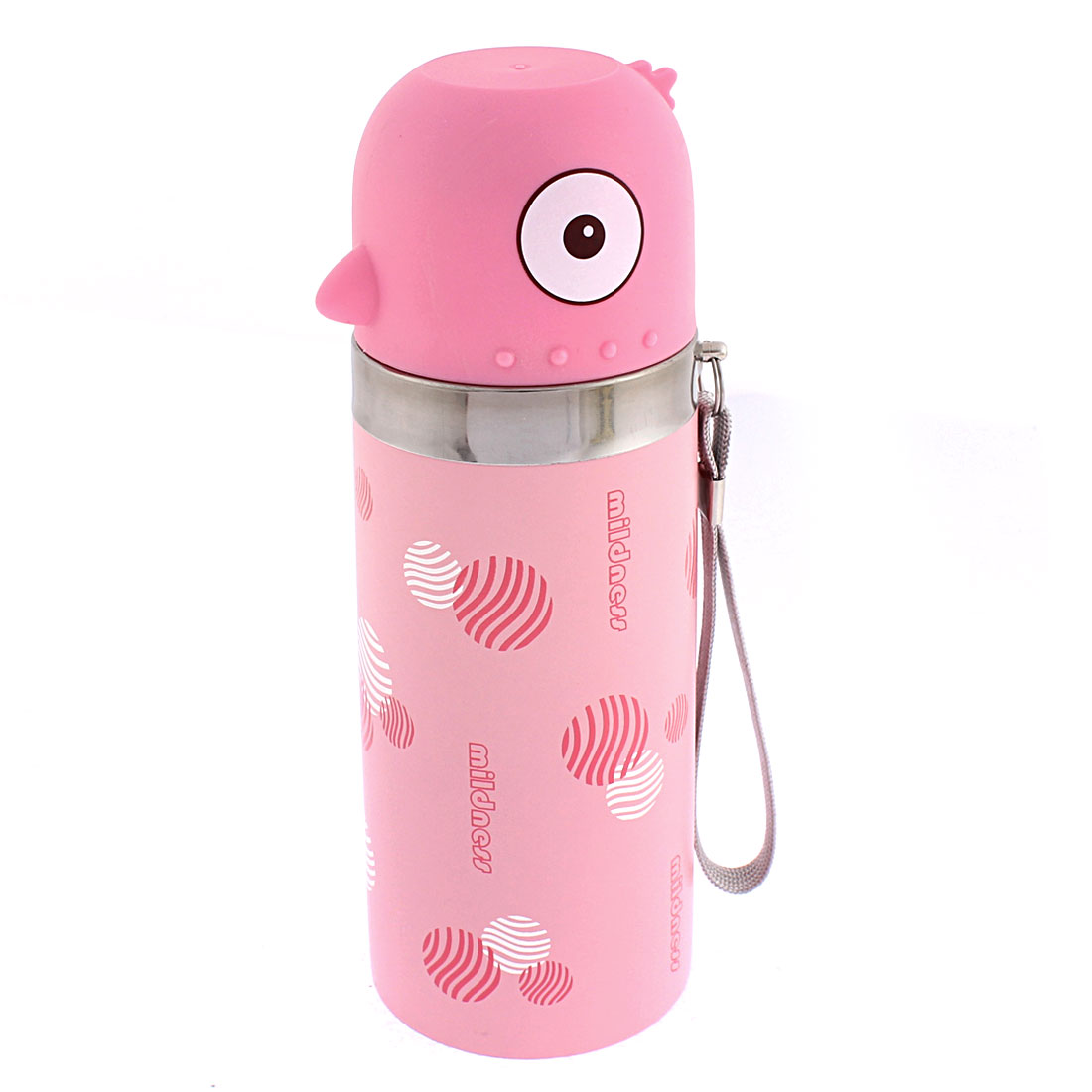 350ml Stainless Steel Heat Retaining Vacuum Flask Bottle Container Jar Pink