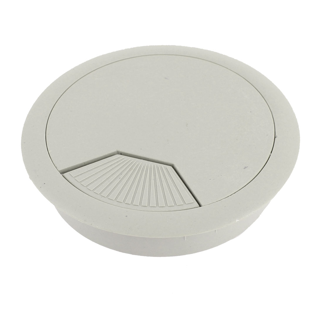 Plastic 80mm Round Computer Desk Wire Cable Hole Cover Grommet