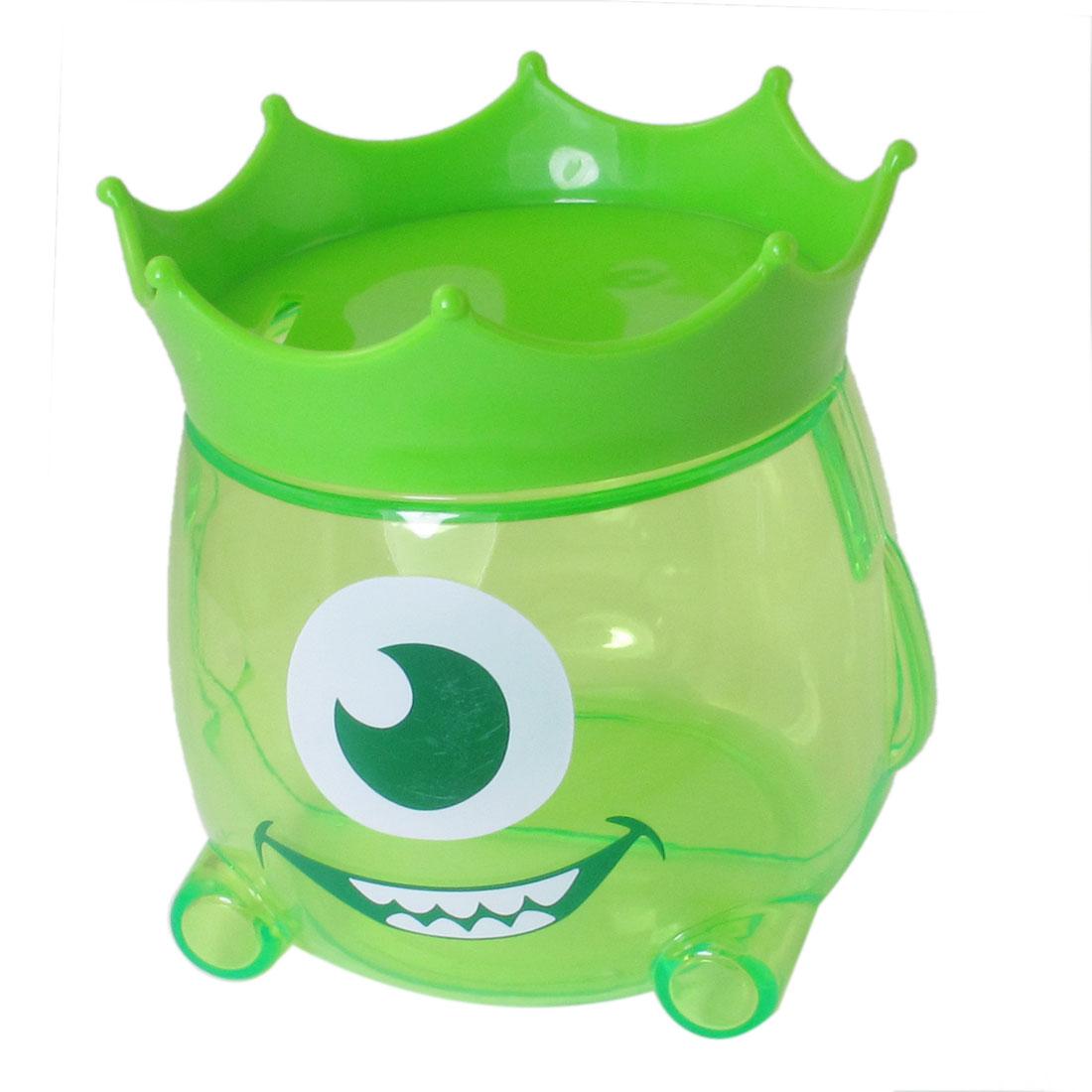Clear Green Plastic Piggy Bank Box Coin Candy Savings Jar Pot Gift