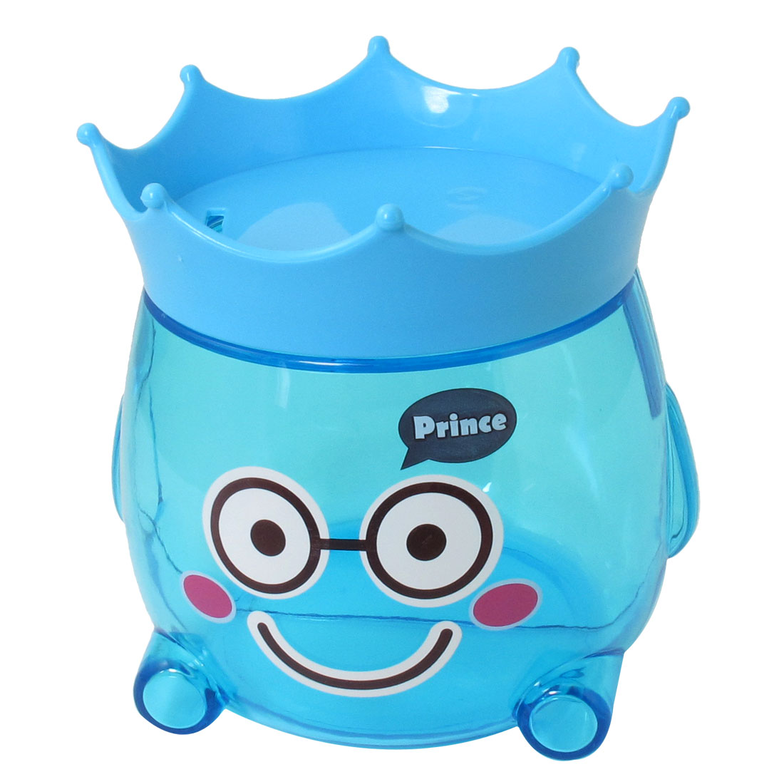 Clear Blue Plastic Piggy Bank Coin Cash Safe Box Candy Pot Gift