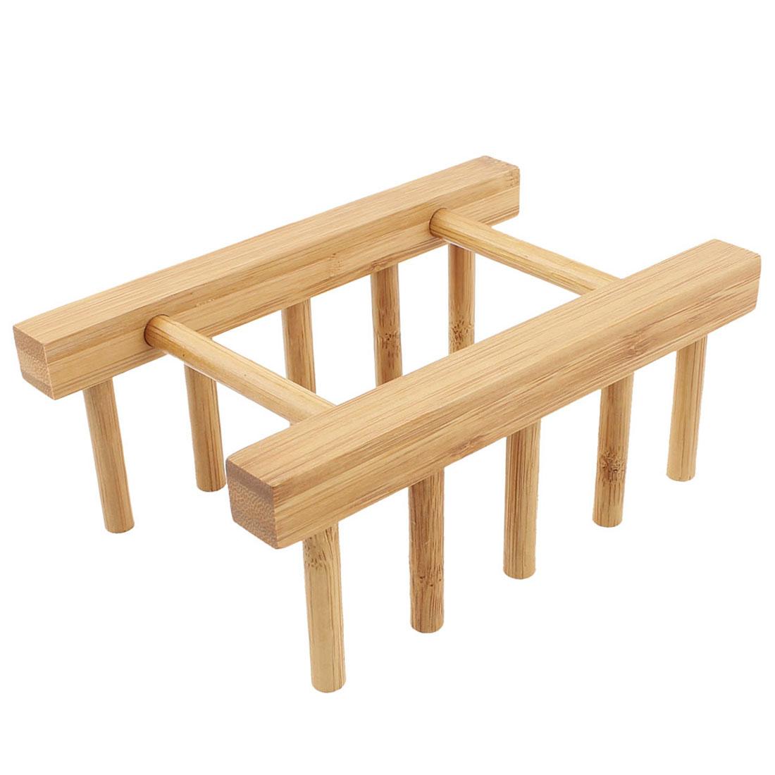 Kitchen Wood Dish Tableware Lid Rack Organizer Storage Holder