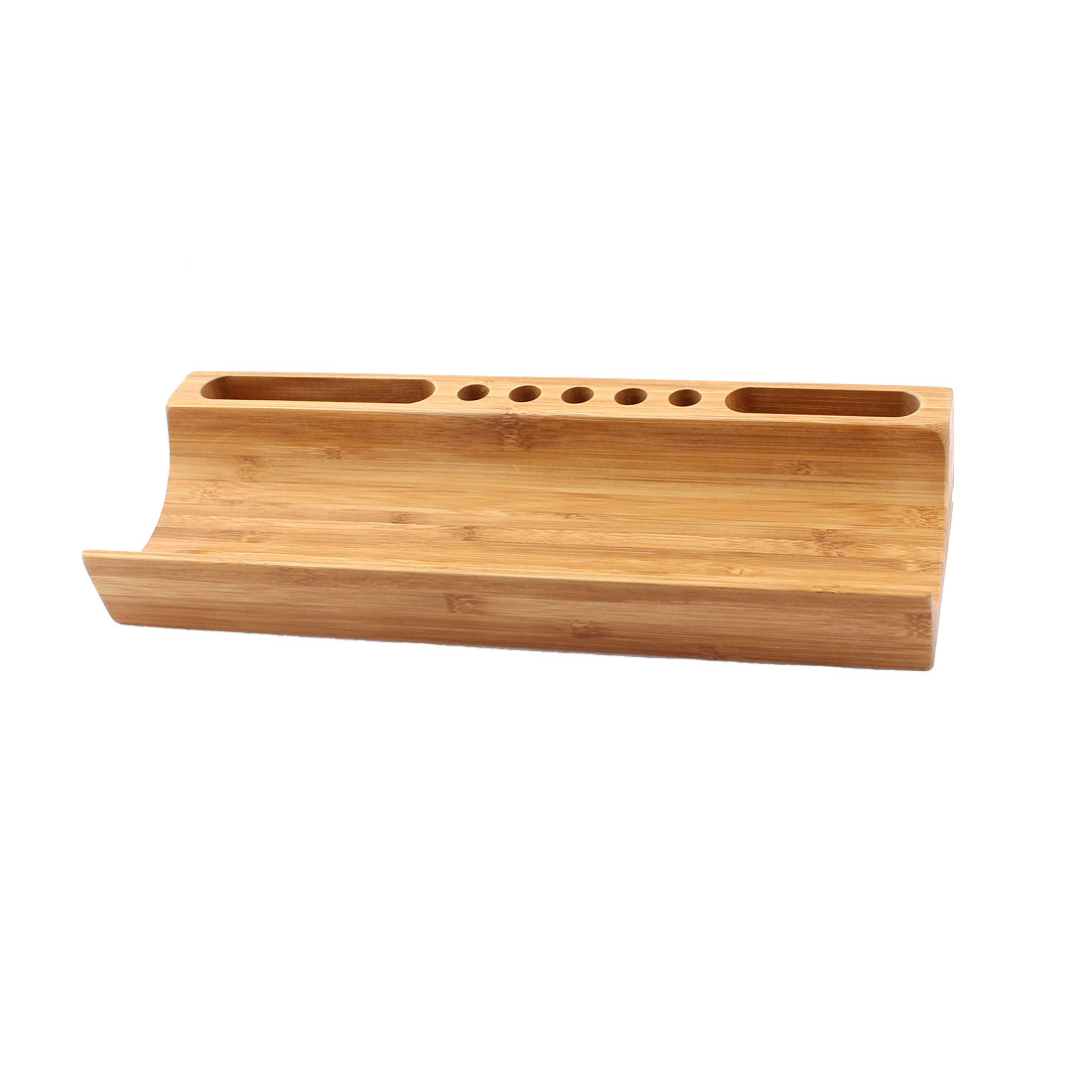 Stationery Cosmetic Makeup Storage Bamboo Desk Organizer Box Holder