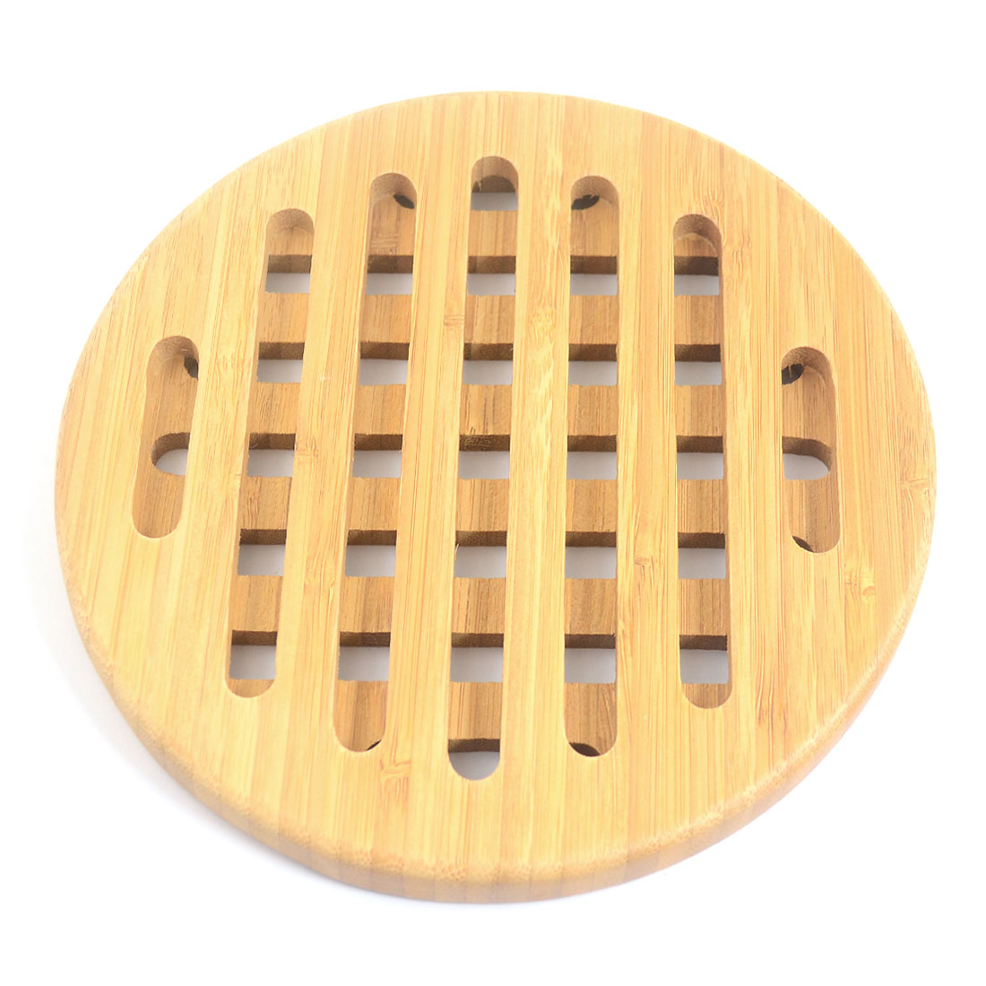 Round Bamboo Cushion Heat Resistant Pad Trivet Mat Hot Pot Holder
