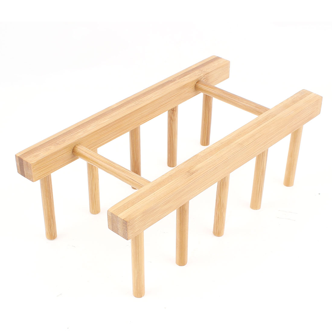 Kitchen Bamboo Dish Drainer Holder Plate Drying Rack Stand DIY Tool