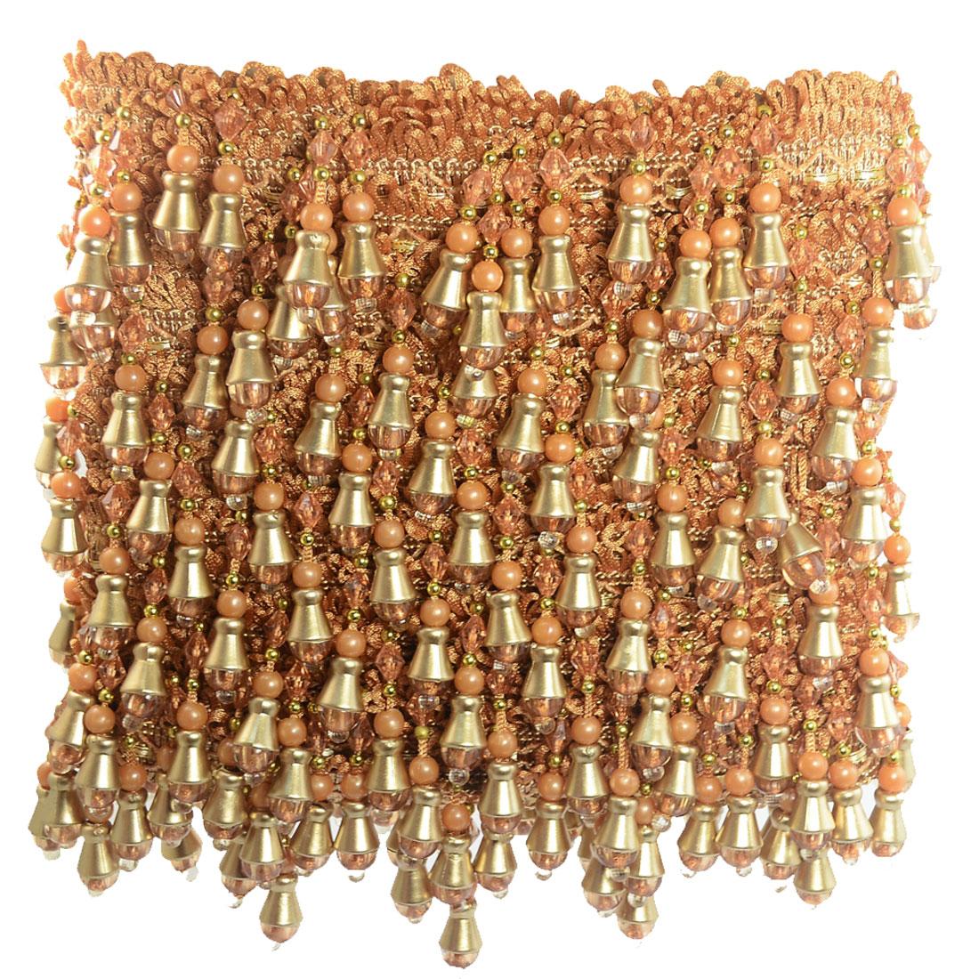 Plastic Beaded Curtain Trim Tassel Fringe Drapery Craft Sewing Decor 12M
