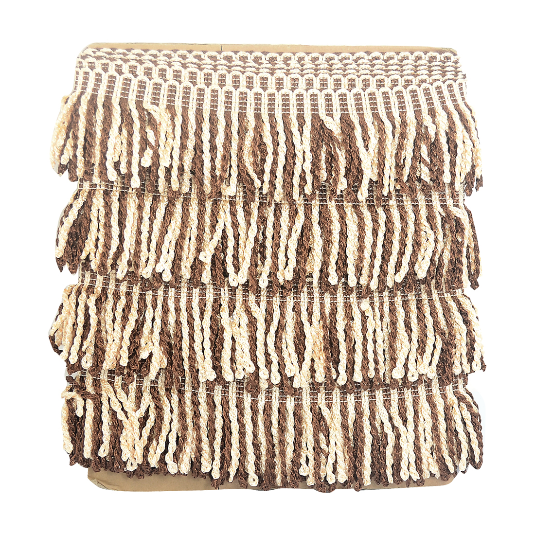 12M Curtain Trimming Edging Tassel Fringe Trim DIY Drapery Brown Beige