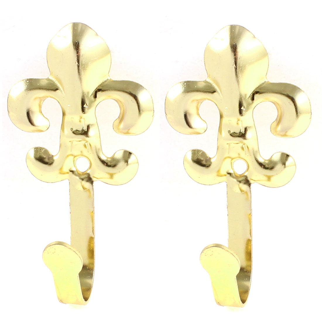 Gold Tone Window Curtain Drapery Tie Backs Hooks Holdbacks Hanger 2pcs