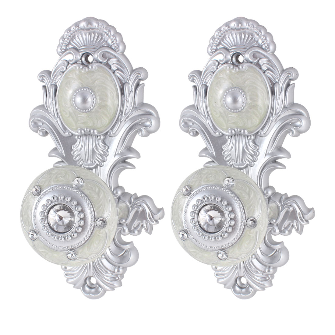 Faux Crystal Decor Curtain Hooks Drapery Tie Backs Hanger Pair