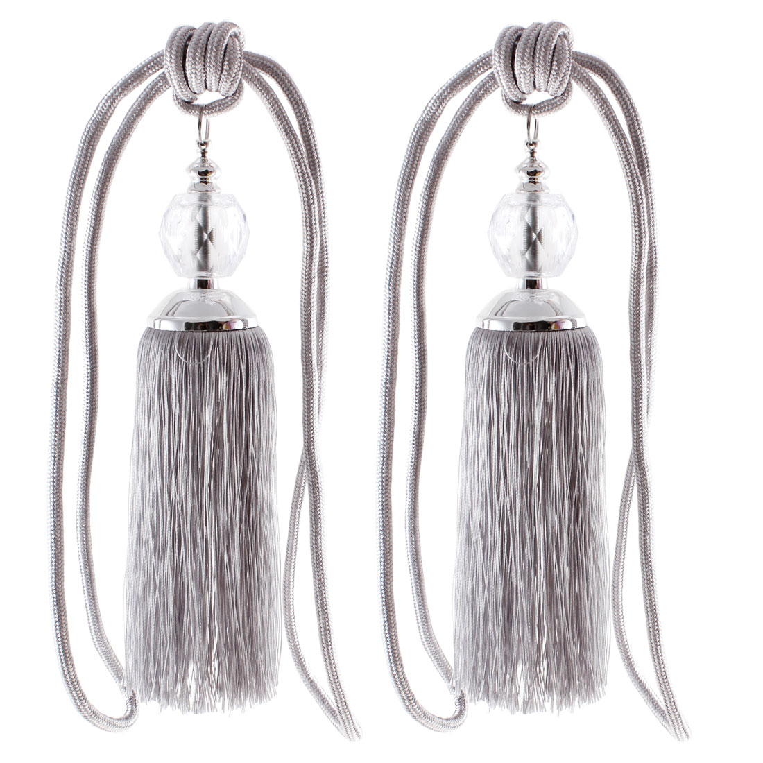 Gray Window Curtain Drapery Tassel Rope Tie Backs Decor