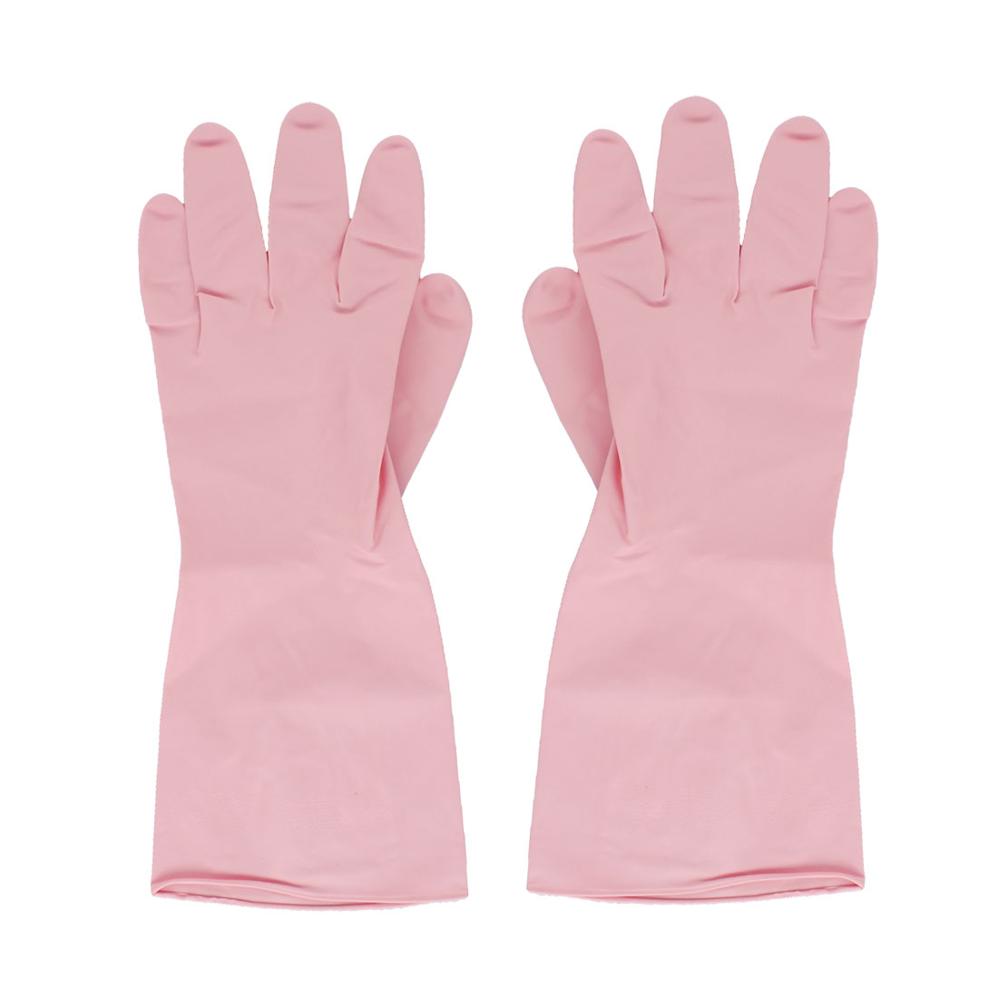 Kitchen Dish Washing Pink Rubber Gloves Protector Cleaning Tools Pair