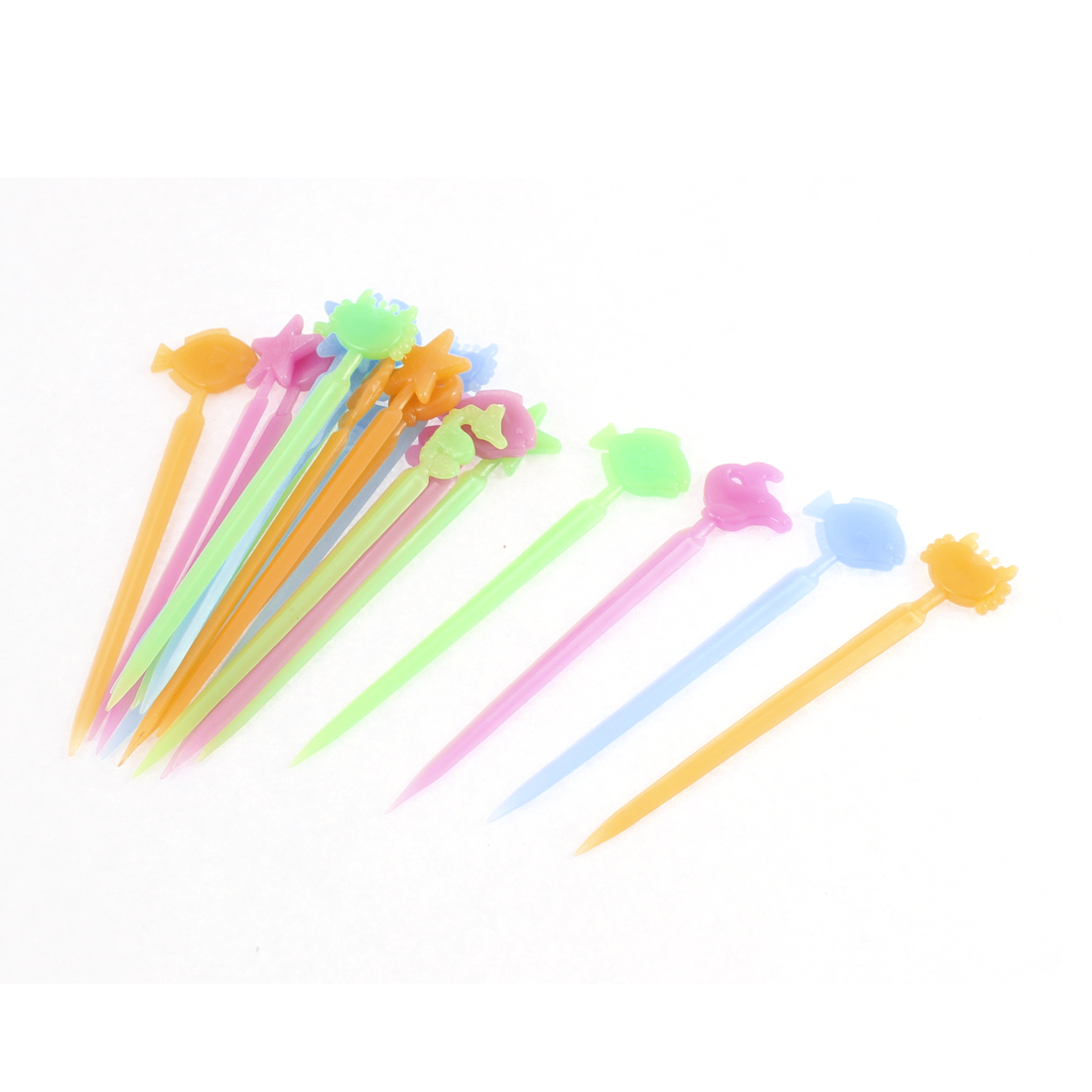 Party Food Fruit Pick Salad Dessert Picks Tip Tool Assorted Color 20pcs
