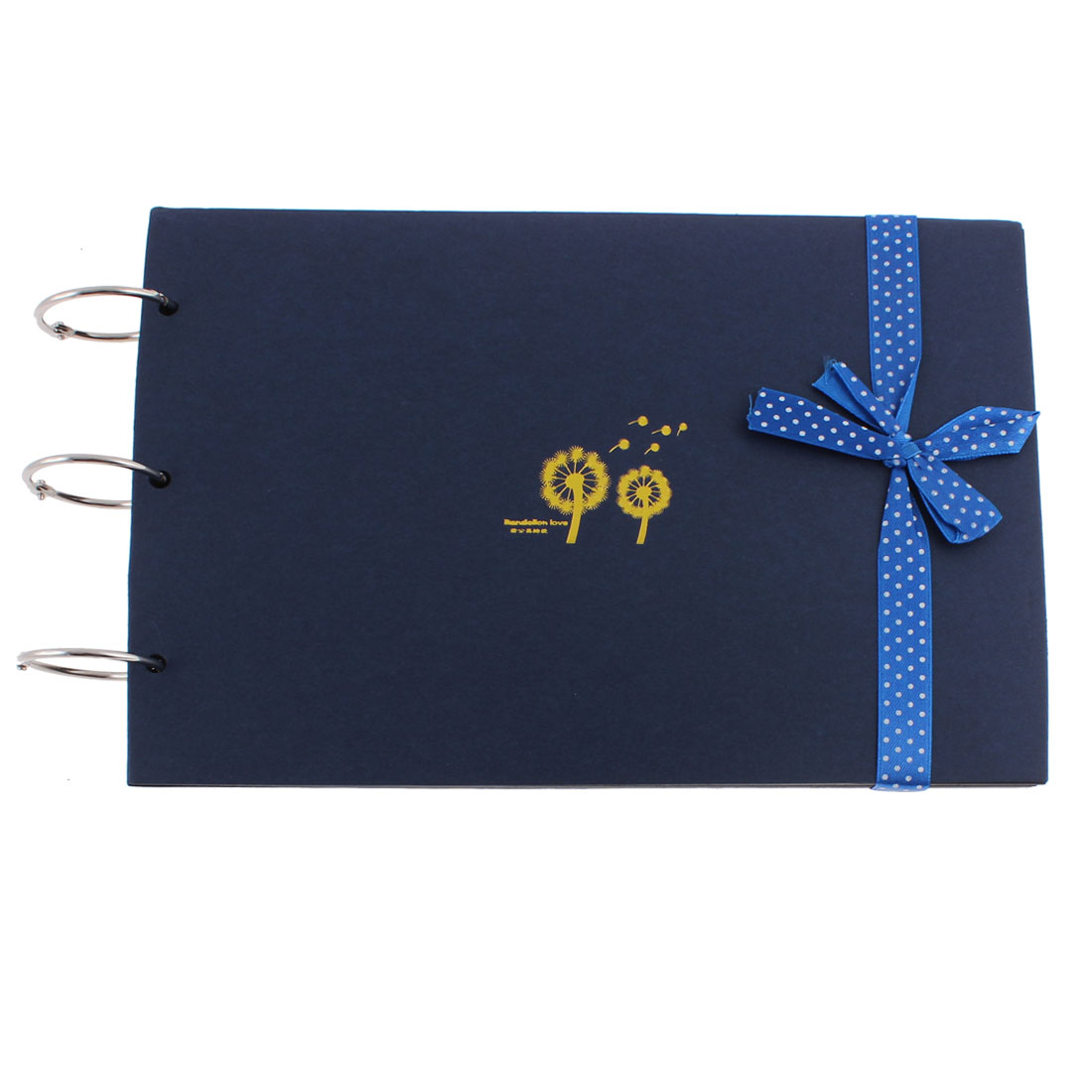 Dandelion Print DIY Travel Love Memory Photo Album Scrapbook Gift Blue