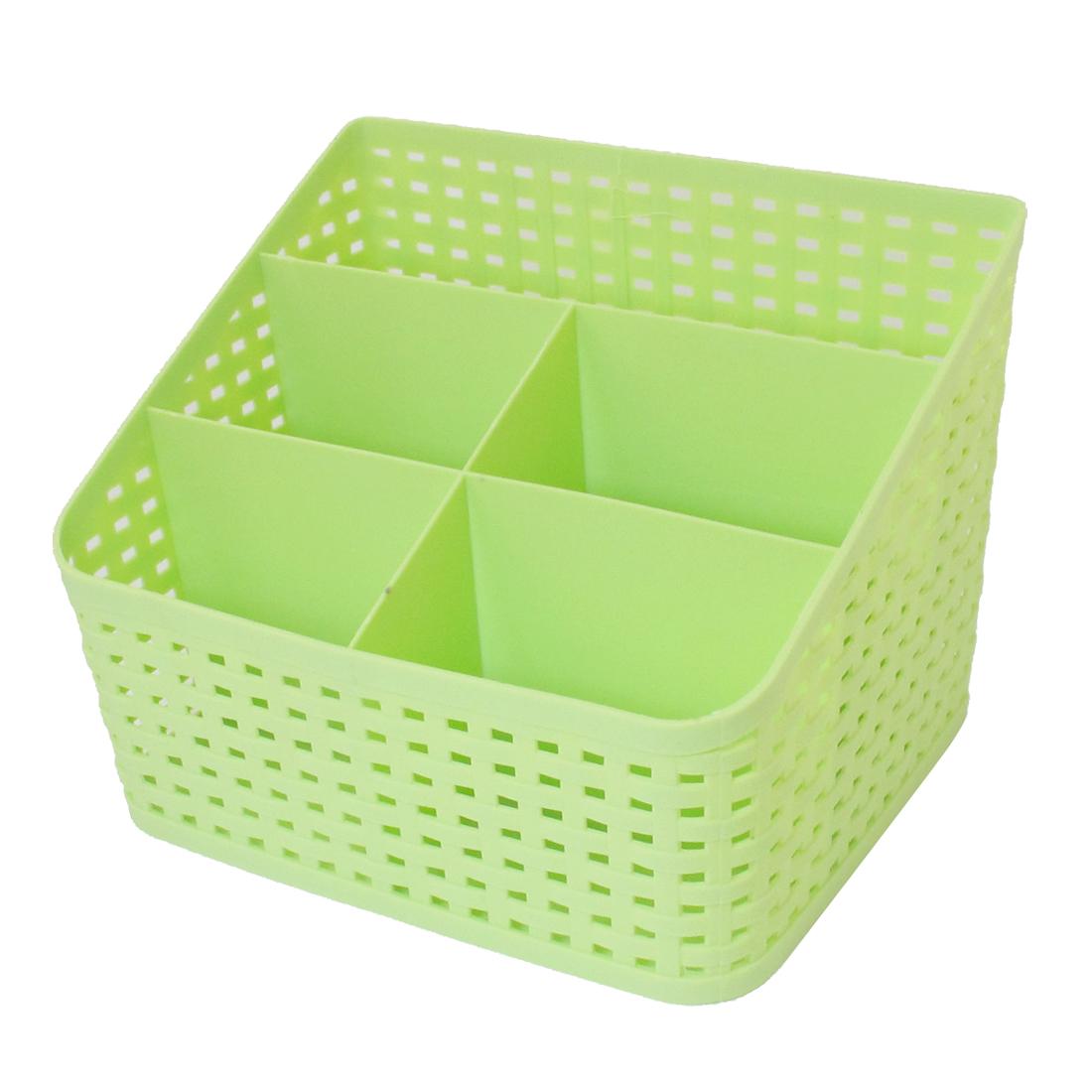 Desktop Sundries Classification 5 Slots Storage Drawer Divider Box Green