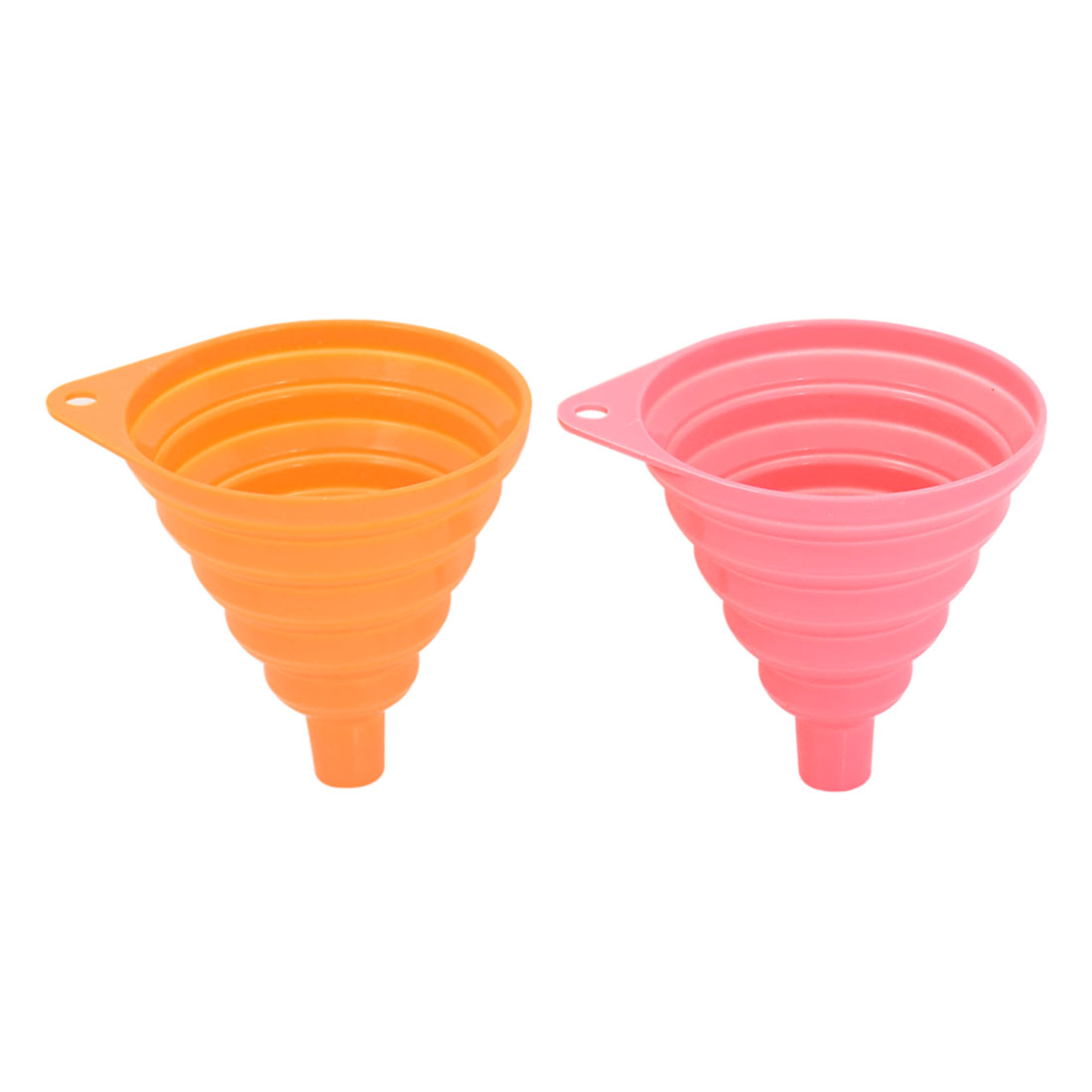 Silicone Cone Heat Resistant Foldable Filter Funnel Hopper Kitchen Tool 2pcs