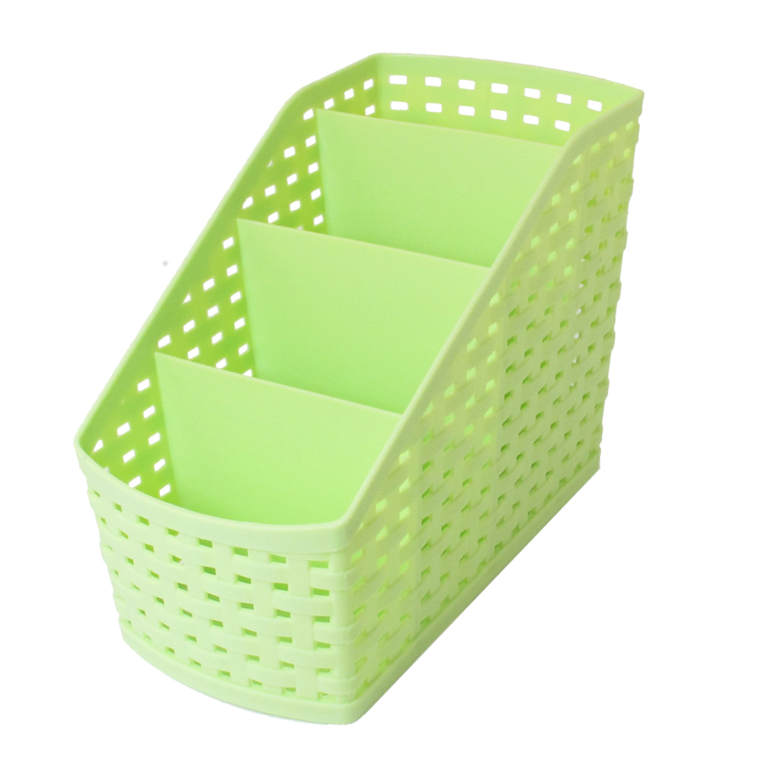 Desktop Sundries Classification Plastic 4 Slots Storage Case Basket Box Green