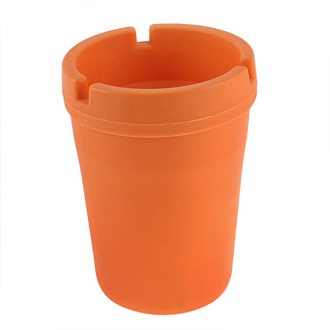 Car Plastic Self Extinguishing Butt Bucket Cigarette Ashtray Holder Orange