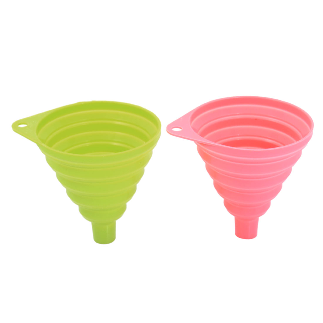Silicone Cone Collapsible Foldable Filter Funnel Hopper Kitchen Tool 2pcs