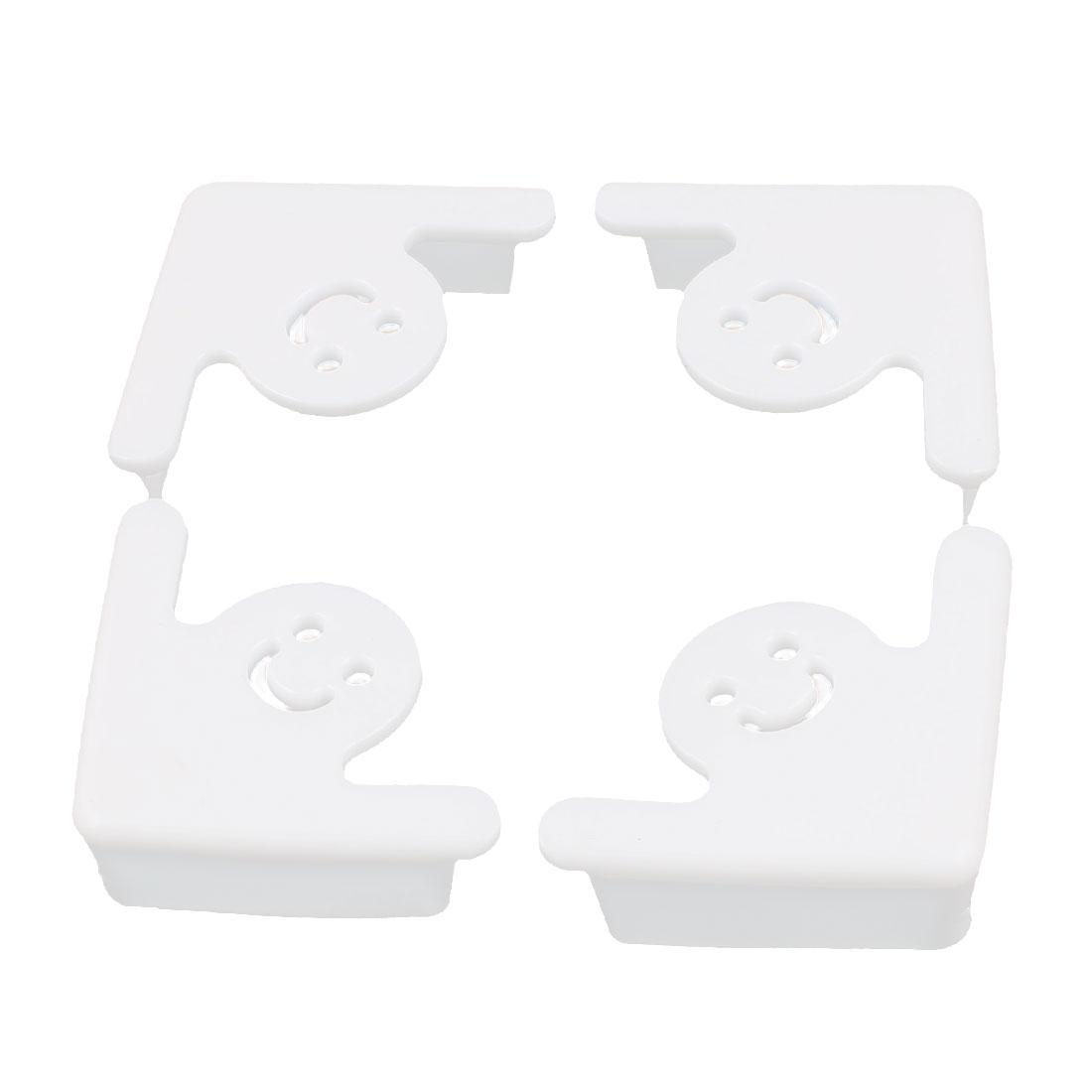 4 Pcs Proof Table Corner Desk Edge Soft Pad Cover Protector Cushion White