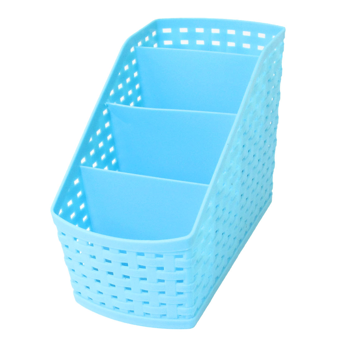 Home Cosmetic Remote Control Desktop Storage Divider Container Box Blue