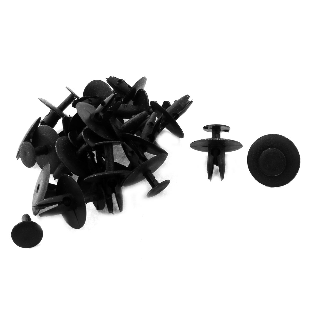 6.5mm x 21mm x 15mm Plastic Car Bumper Fender Push Clips Rivets Retainer 20pcs