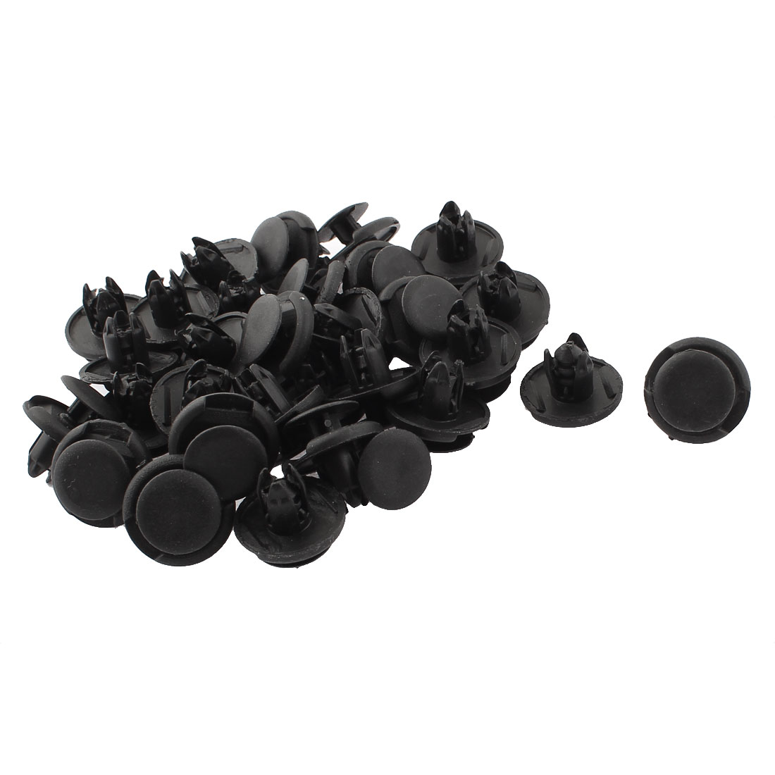 8mm x 19mm x 12mm Plastic Car Bumper Fender Push Clips Rivets Retainer 30pcs