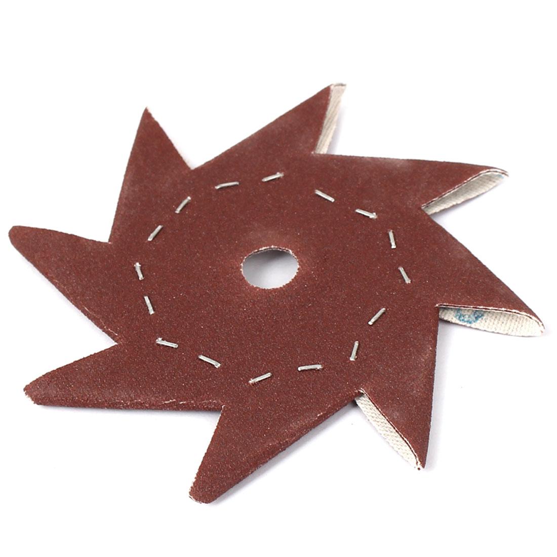 """4"""" 240 Grit Pinwheel Shaped Abrasive Sheet Sanding Buffing Tool"""