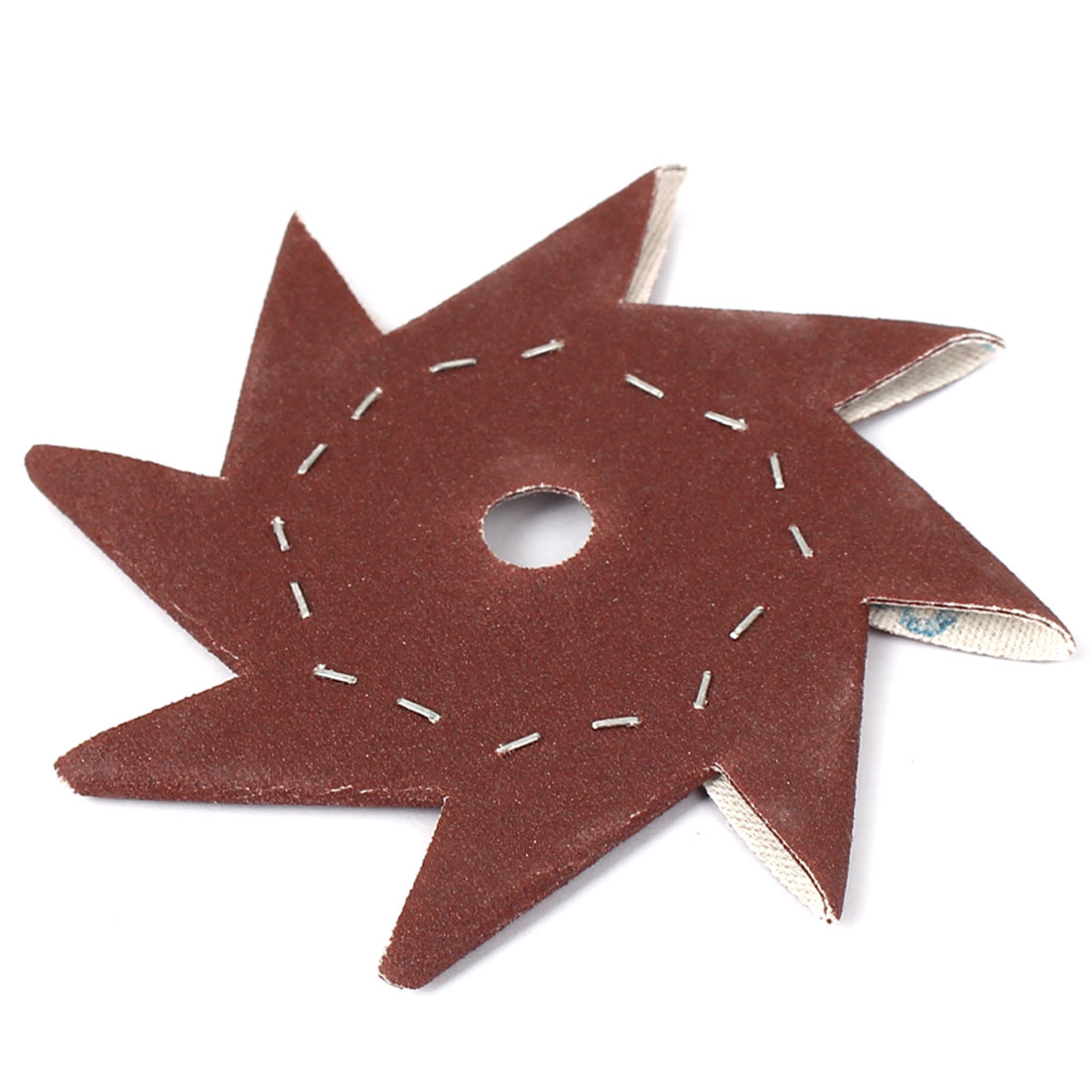 "4"" Pinwheel Shaped 120 Grit Abrasive Sandpaper Sheet Dark Brown"