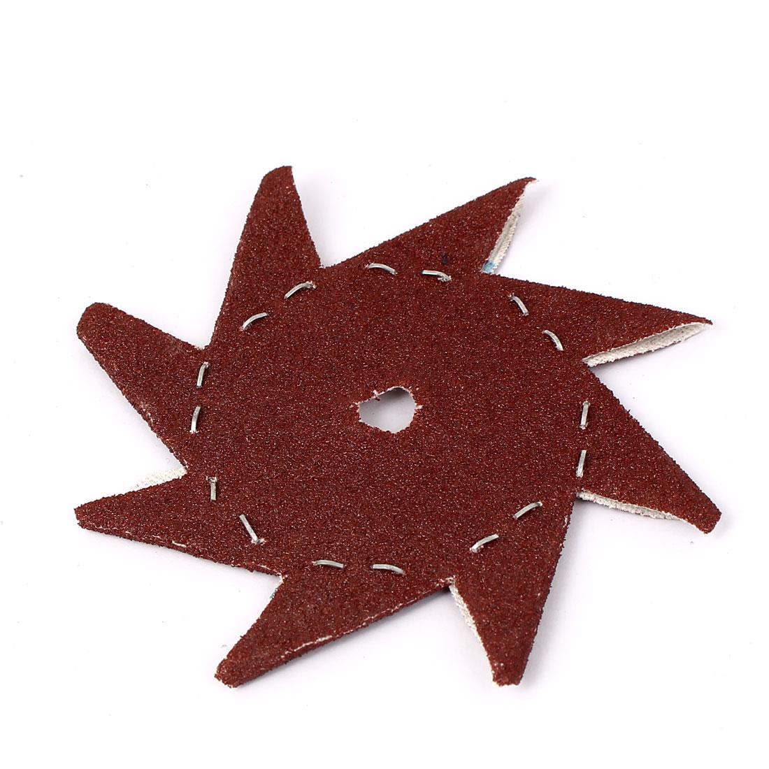 """4"""" Pinwheel Shaped 80 Grit Abrasive Sheet Sanding Buffing Tool"""