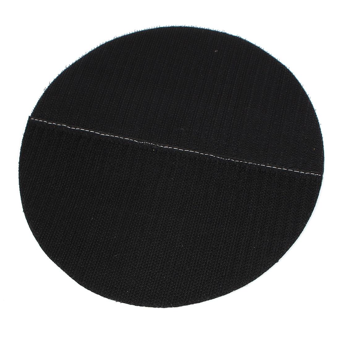 "7"" 180mm Diameter Round Hook and Loop Polishing Pad Mat Rotary Tool Black"