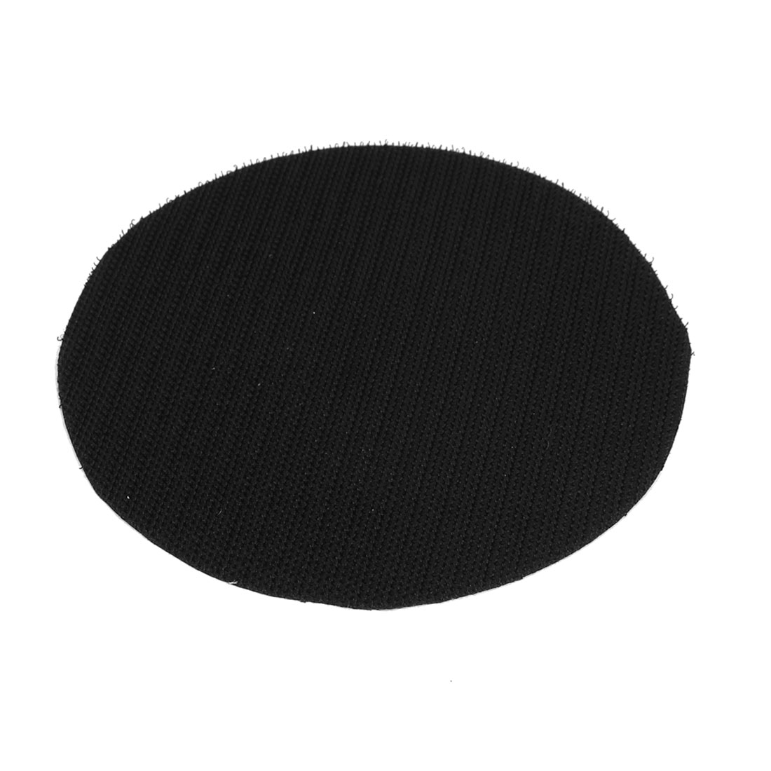 "5"" 125mm Diameter Round Velvet Hook and Loop Backing Pad Mat Rotary Tool Black"