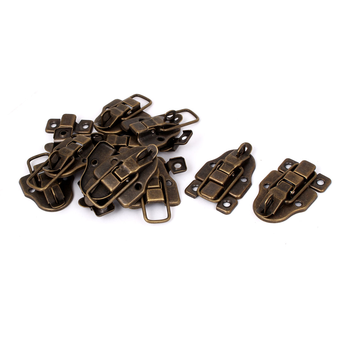 Furniture Suitcase Drawer Chest Box Retro Style Catch Hasp Toggle Latch 10pcs